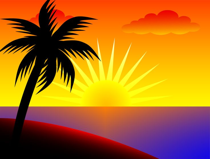 Sundown Clip Art.