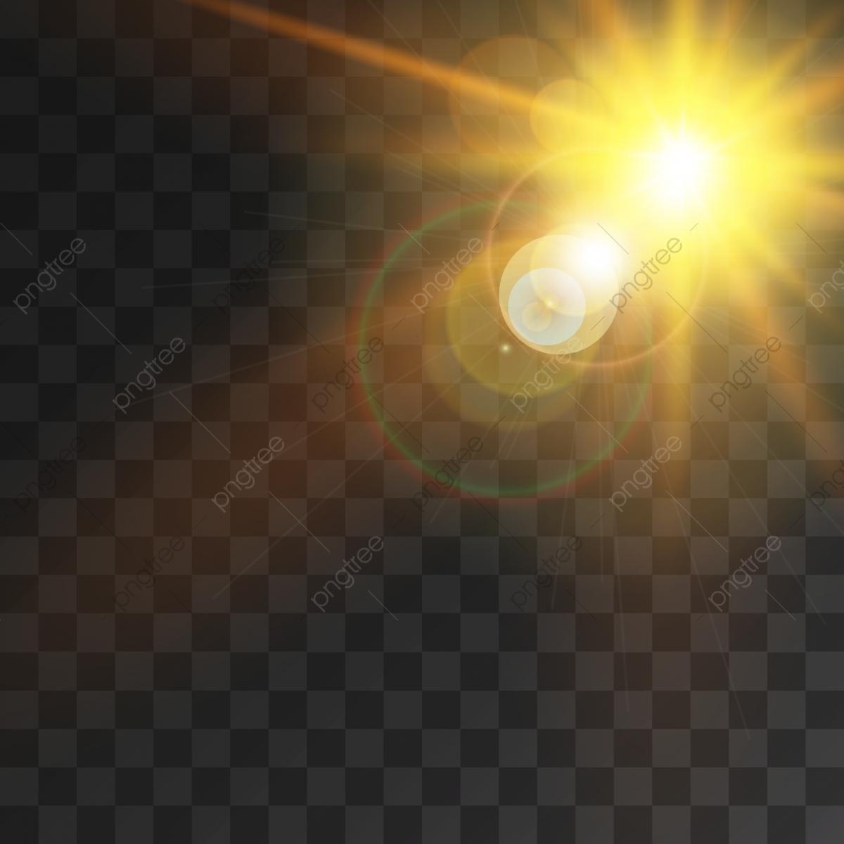 Creative Sun Light Effect With Sun Rays And Bokeh.