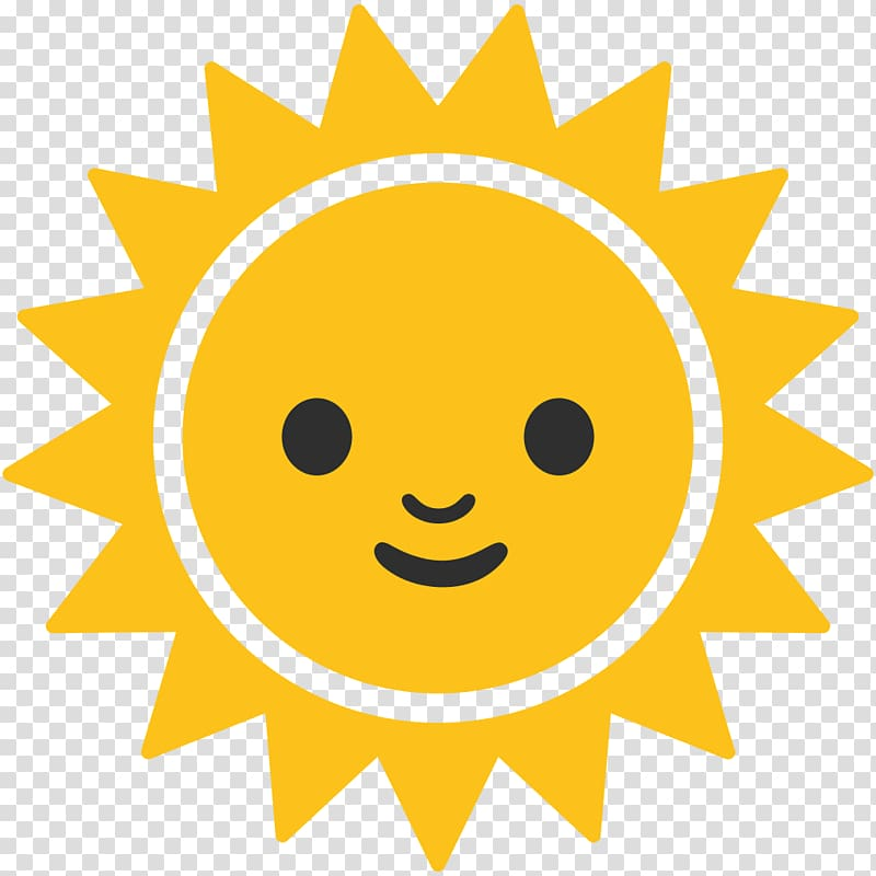 Yellow sun character , Emoji Android Symbol Computer Icons.