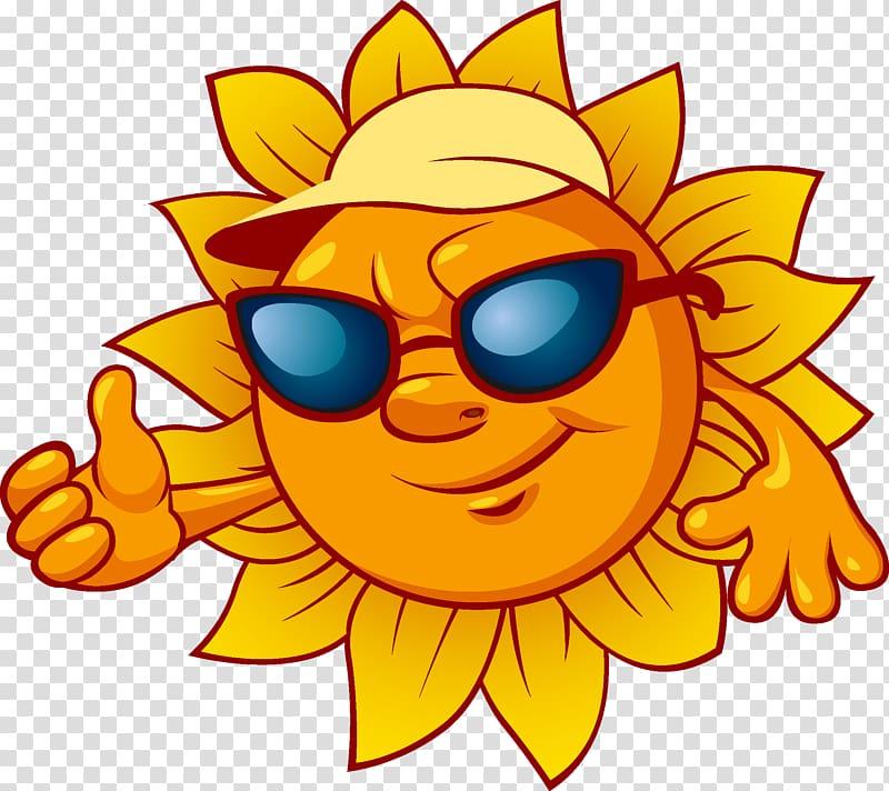Solar panel Solar power Solar energy , Cartoon sun.