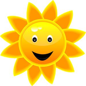 Smiling Sun Face.