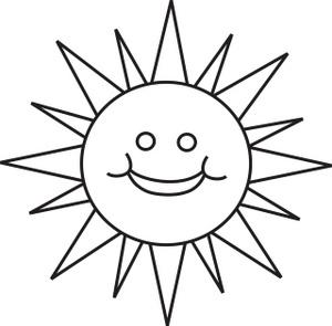 Sun Faces Carson Clipart.