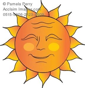 Sun Face Clipart.