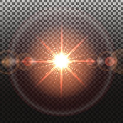 Solar flare Clipart Image.