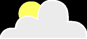 Sun Behind Cloud Clip Art at Clker.com.