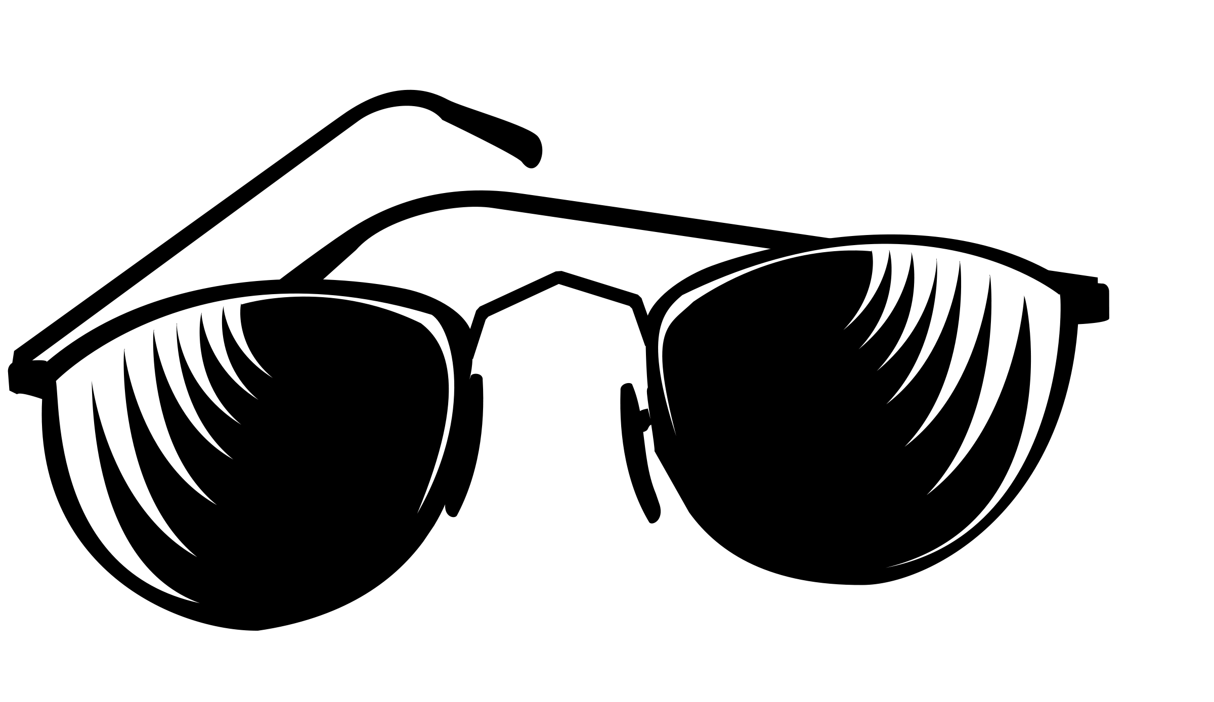 Sun with sunglasses clip art.