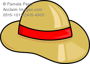 School Sun Hat Clipart.