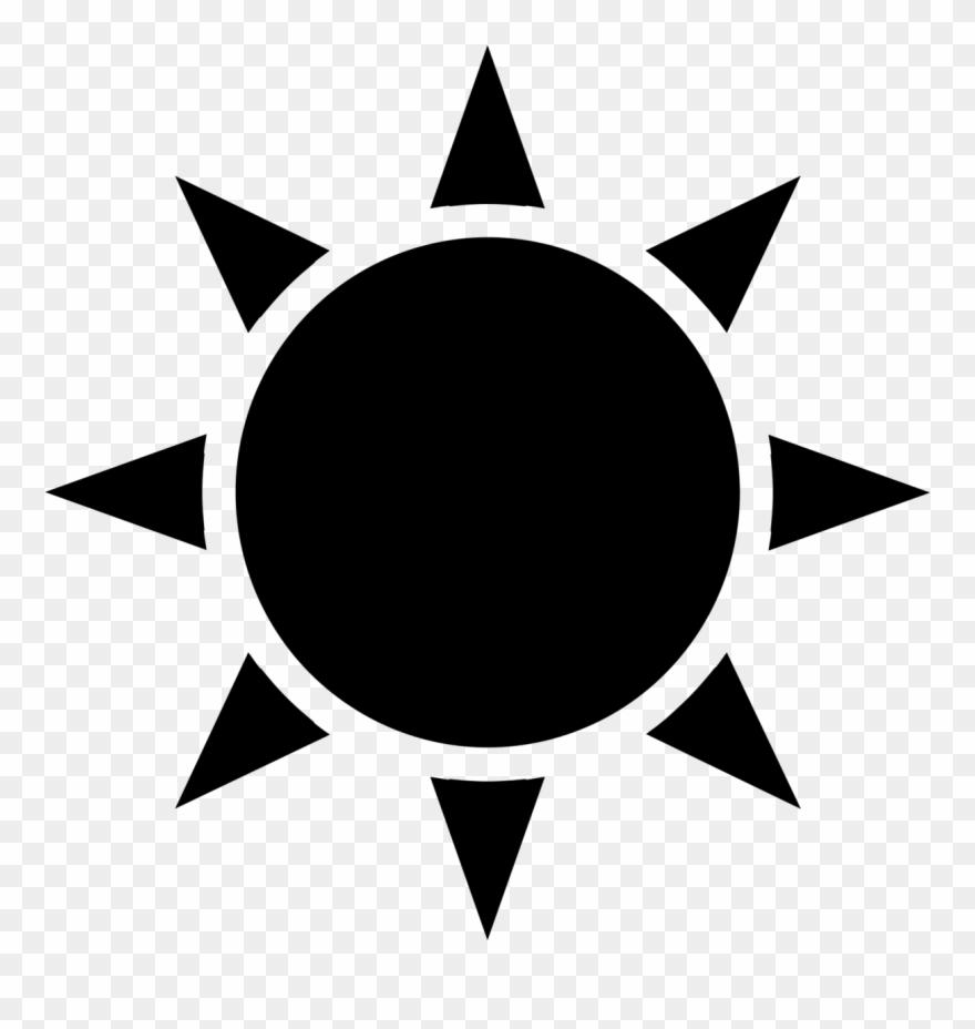Black Sun Icon Transparent Clipart (#1034877).