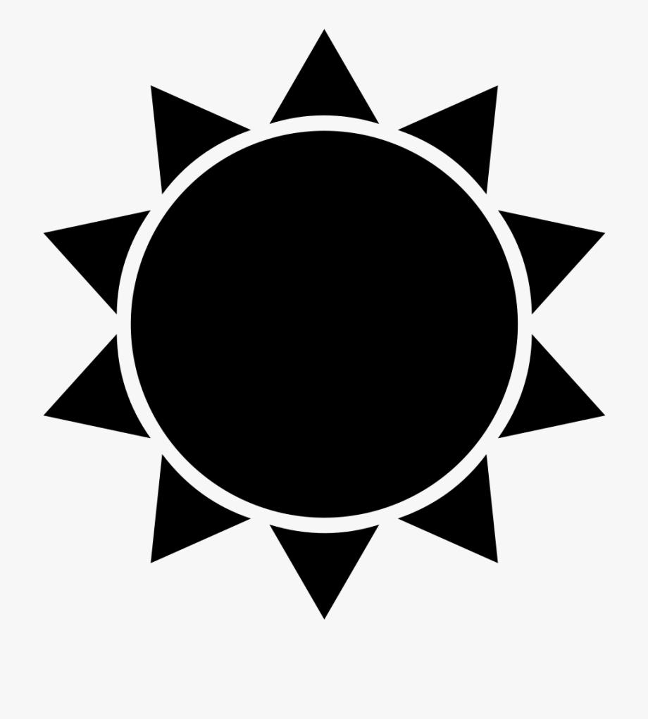 Black Sun Clipart.