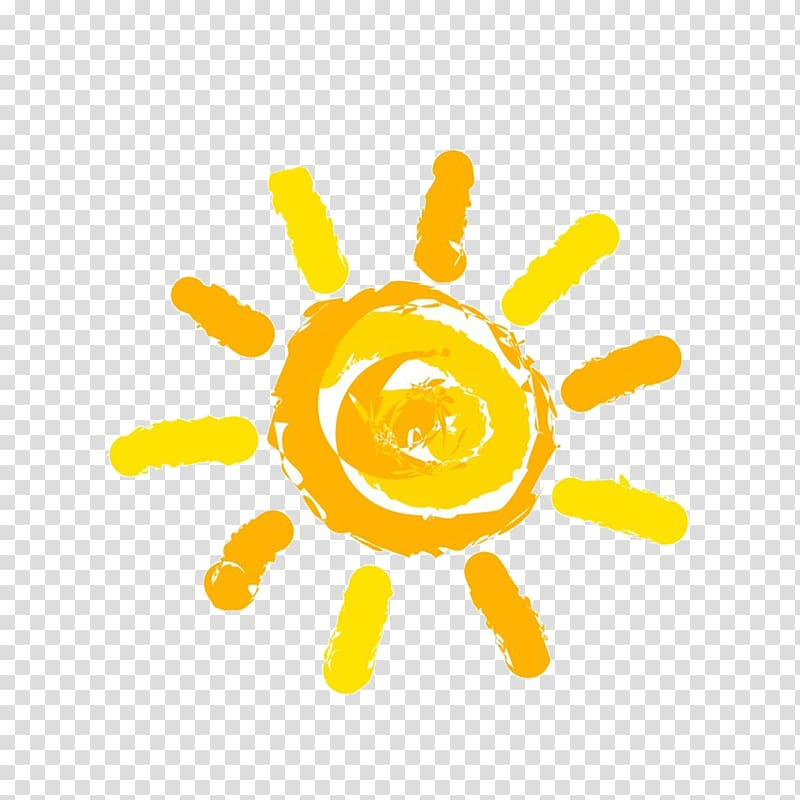 Sun , sun, yellow sun illustration transparent background.