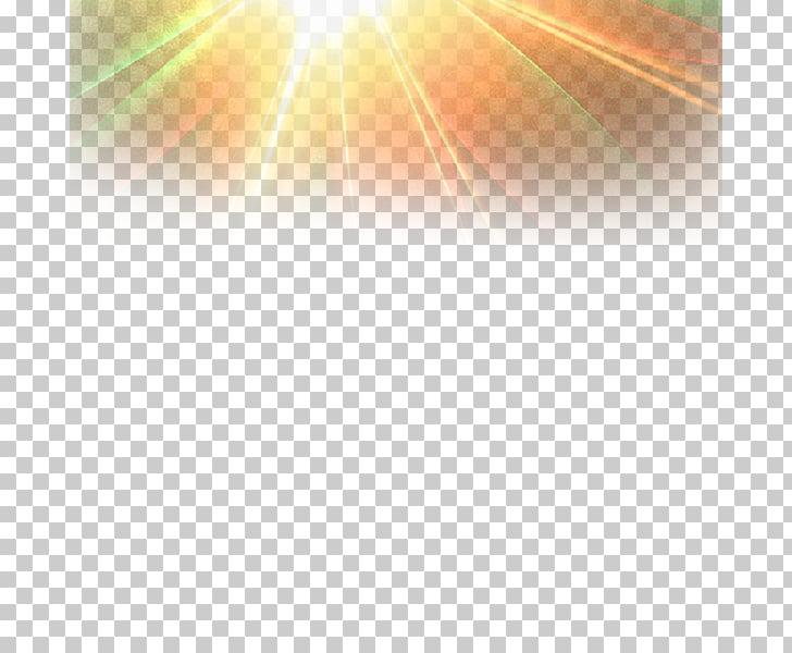 Sunlight, Light effect PNG clipart.