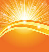 Clipart of Abstract background with sun light rays k11566545.