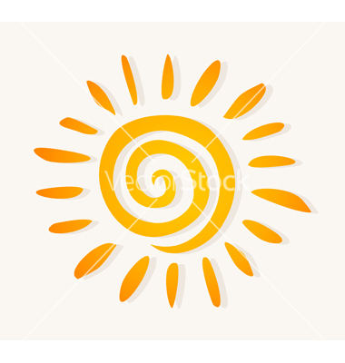 Sun logo vector art.