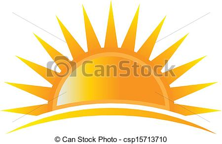 Vector Clip Art of Power Sun Logo Vector csp15713710.