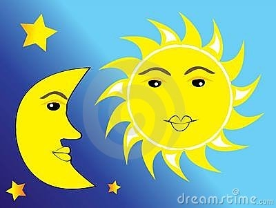 Sun Moon And Stars Clipart.
