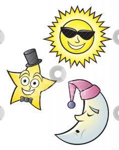 Sun Moon Stars Clip Art.