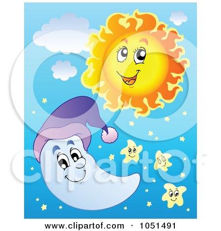 Similiar Cartoon Sun And Moon And Stars Keywords.