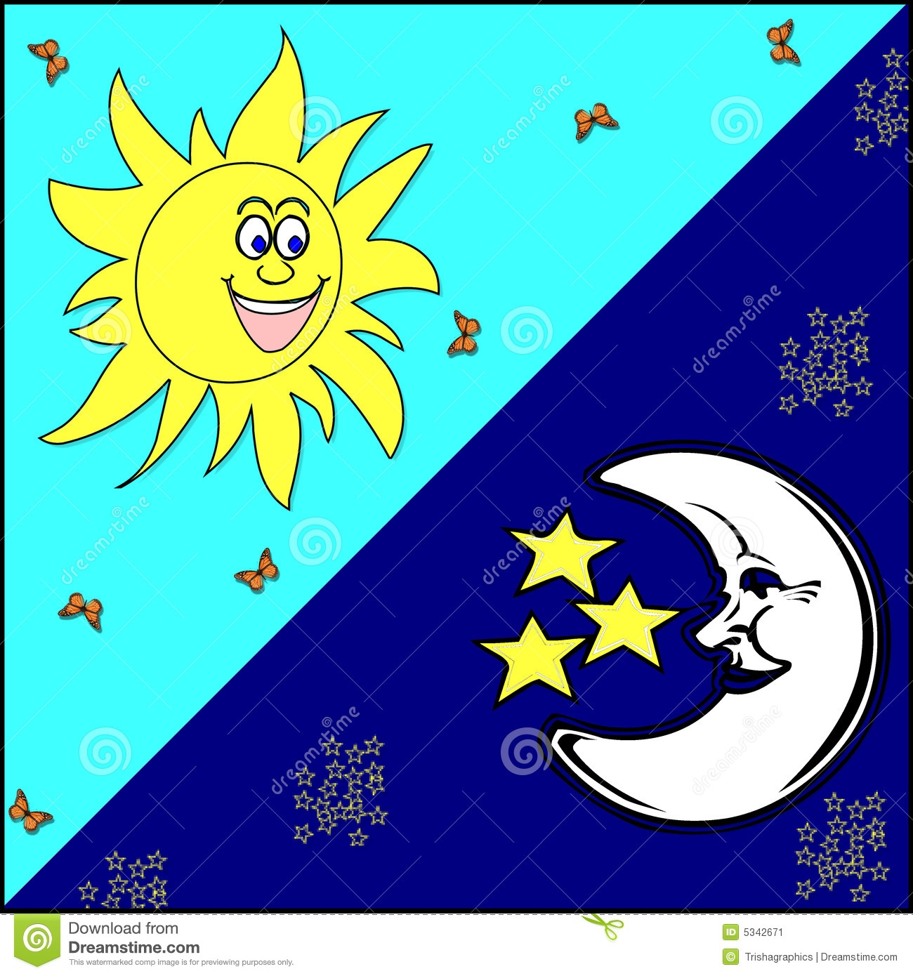 Similiar Sun Moon And Stars Graphics Keywords.