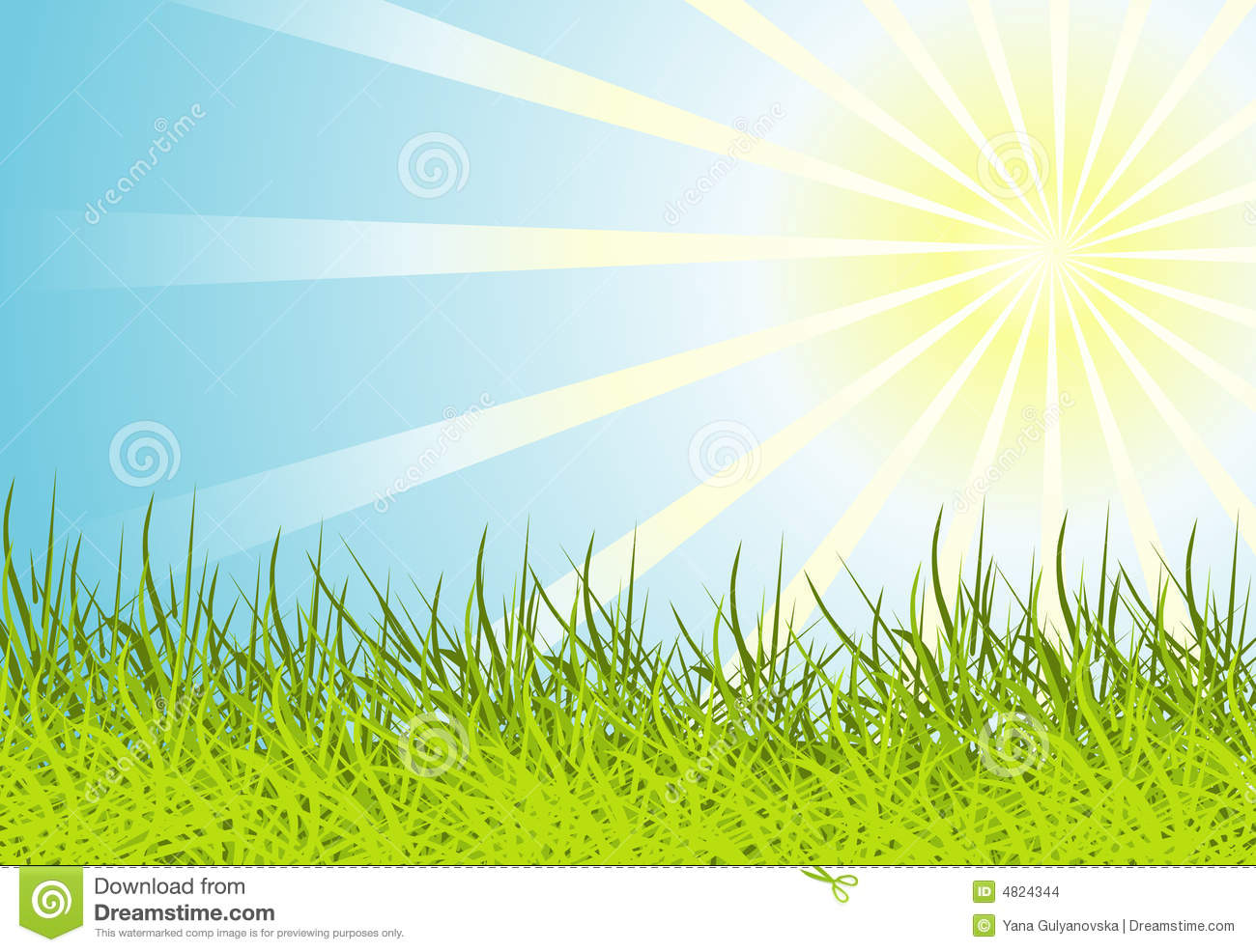 sun on the grass clipart - clipground
