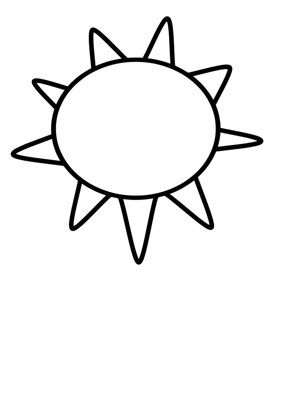 Free Clipart: Sun Outline.