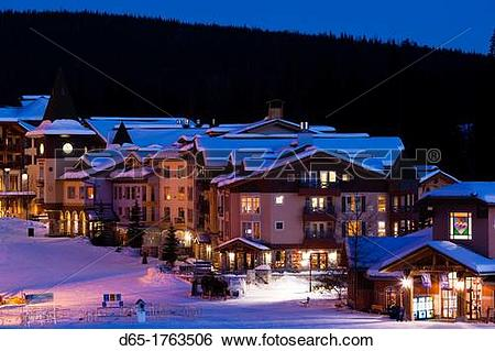 Stock Images of Canada, British Columbia, Sun Peaks, Sun Peaks.