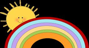 Rainbow sun clipart free.