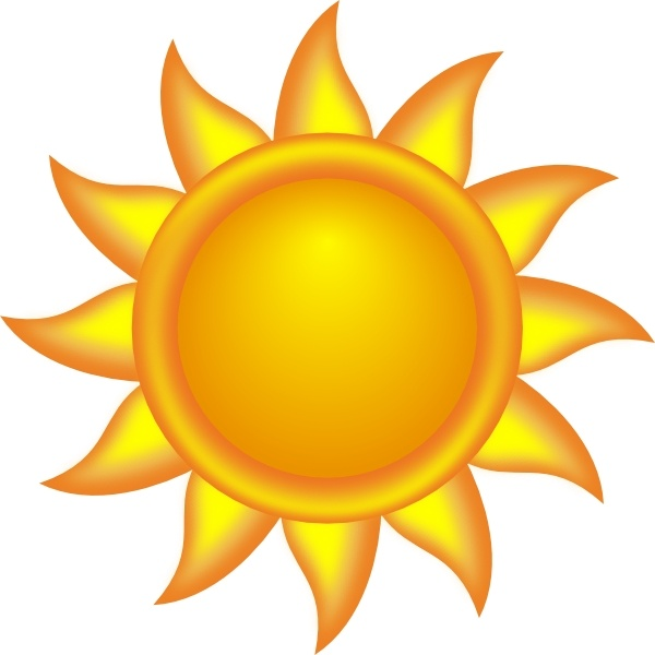 Decorative Sun clip art Free vector in Open office drawing.