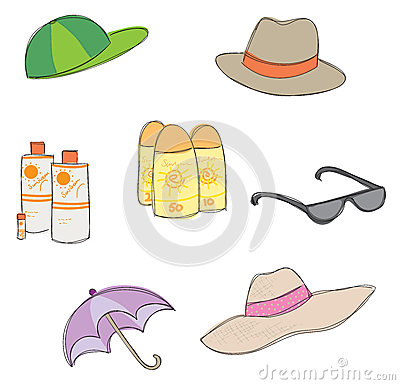 Sun Protection Clipart.