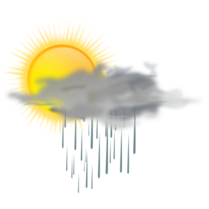 Sun And Rain Cloud Clip Art at Clker.com.