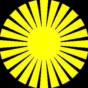 Yellow Sun Rays Clip Art at Clker.com.