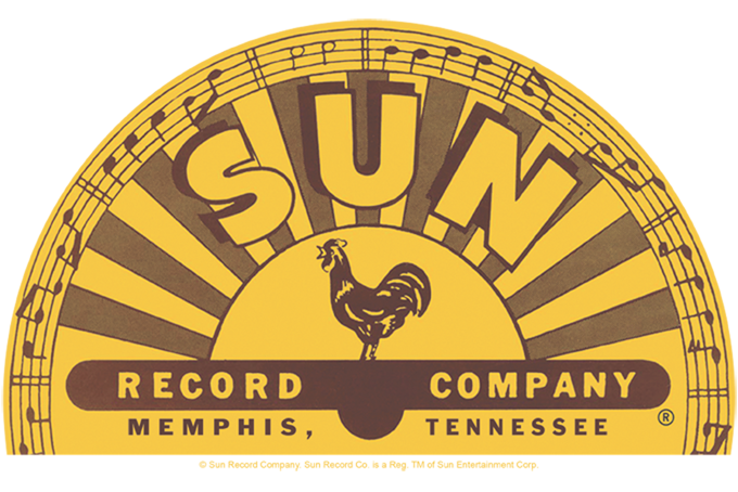 Sun Records Traditional Logo Men\'s Tall Fit T.