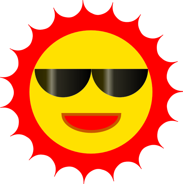 Sun With Shades Clipart.