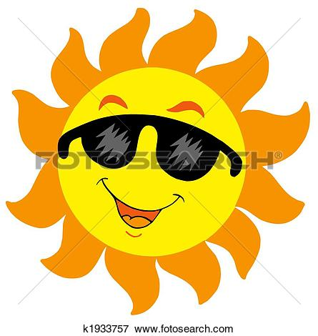Stock Illustration of Sun with sunglasses k1646079.