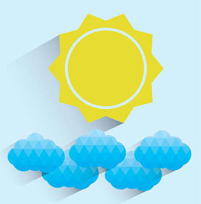 Sun Shining Through Clouds Clip Art Clip Art, Vector Images.