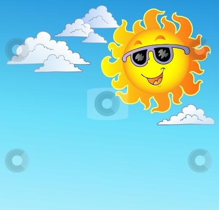 Showing post & media for Cartoon sky with sun clip art.