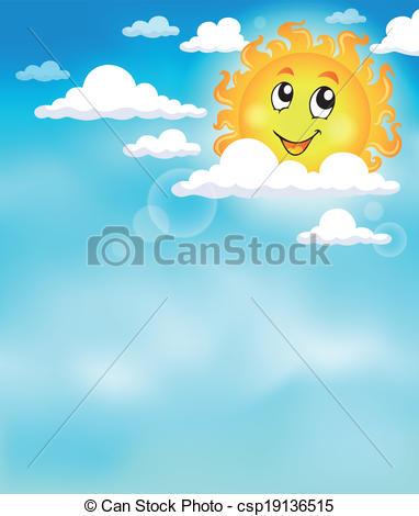 Sun and Sky Clip Art.
