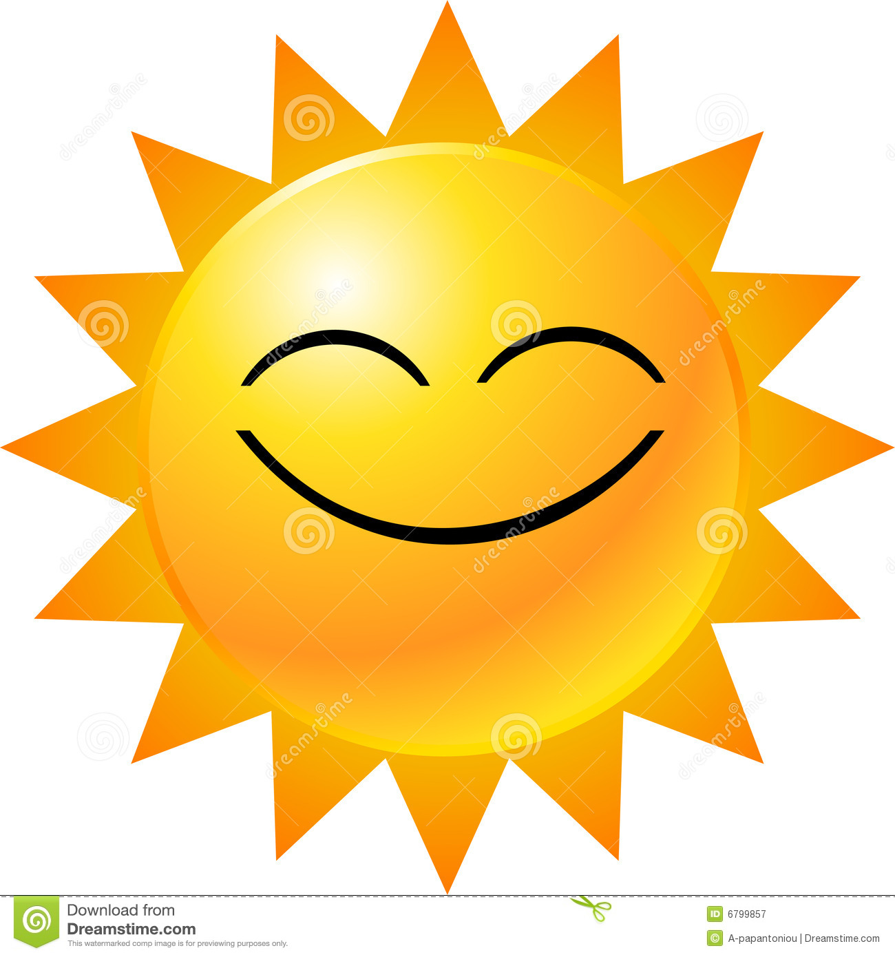 Smiley Face Sun Clipart.