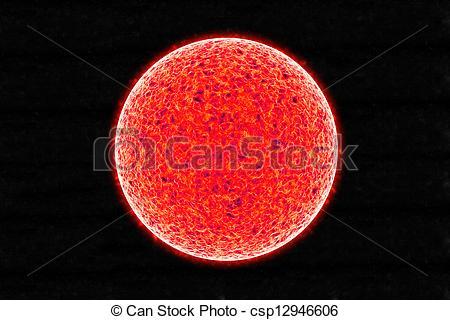 Stock Illustration of Sun Spots.