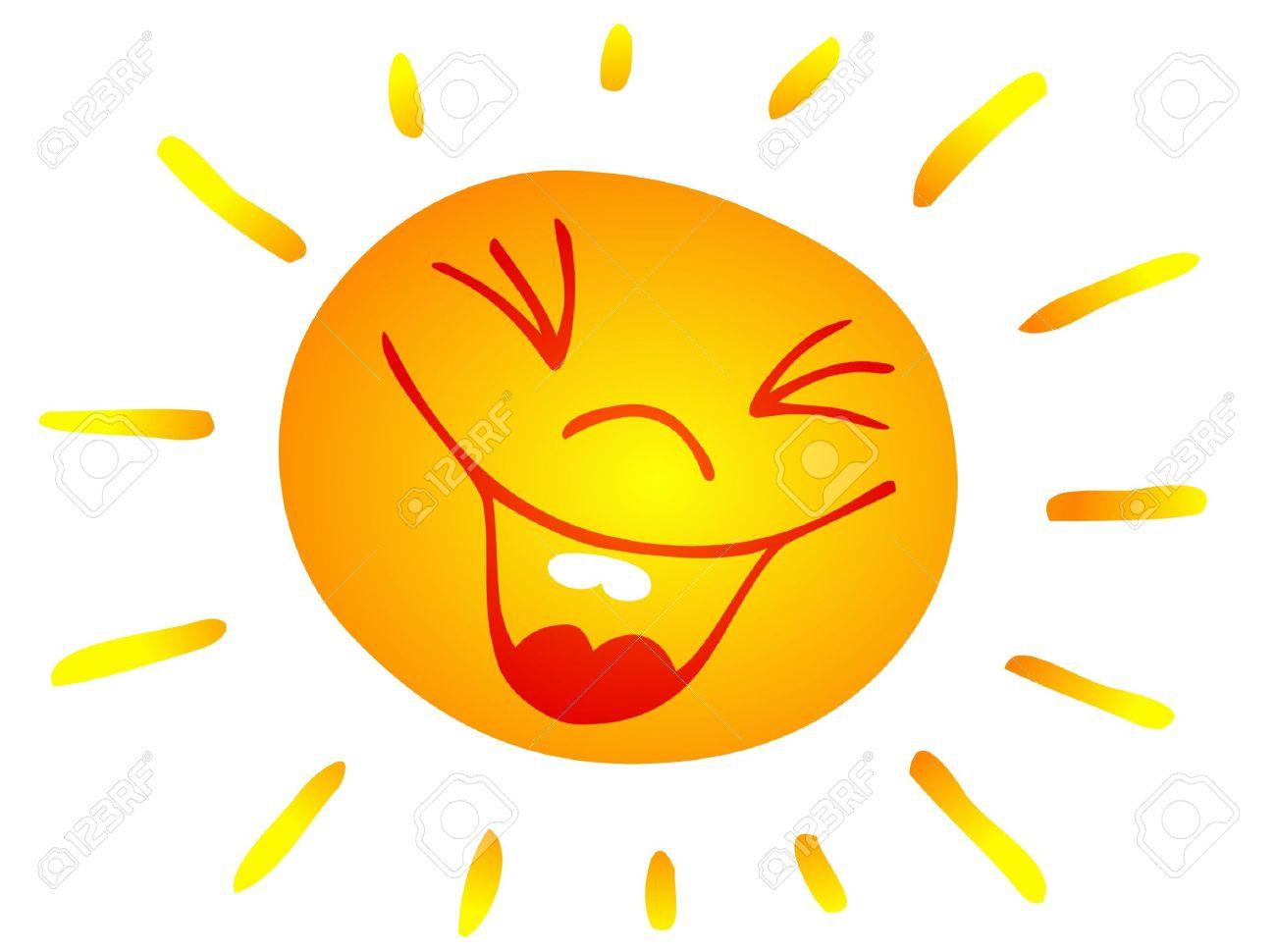 Smiling Sun Clip Art.