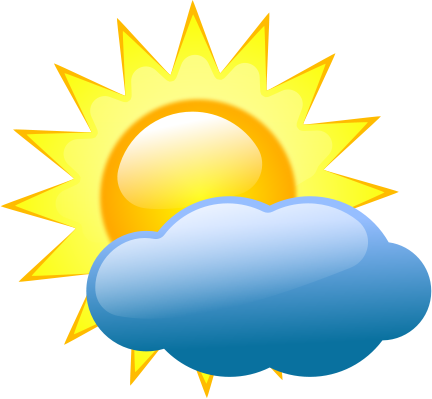 sun with cloud clipart #16
