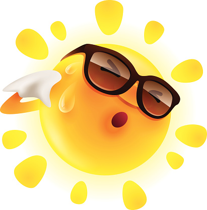Sweating sun clipart.