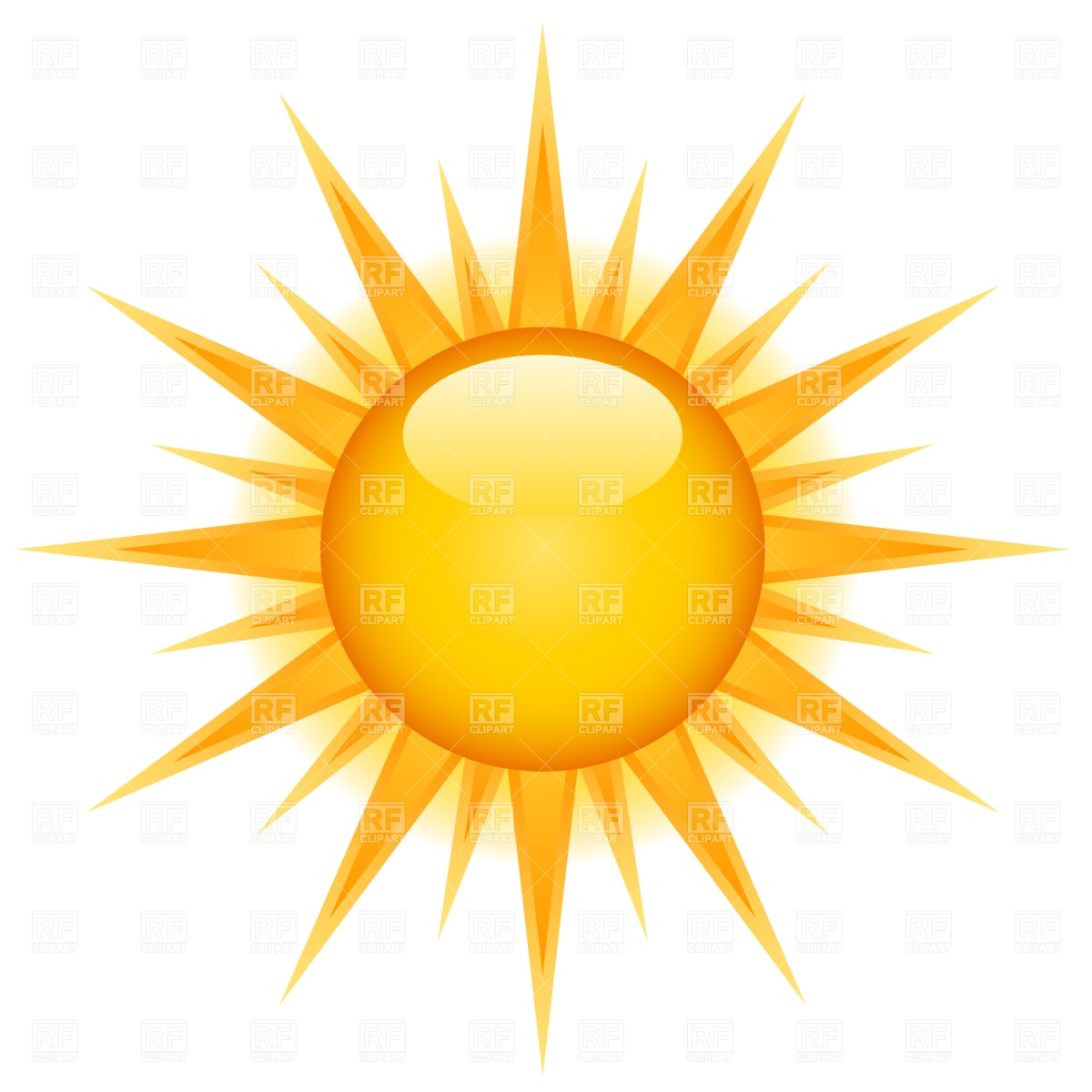 Glossy sun icon Vector Image #1526.