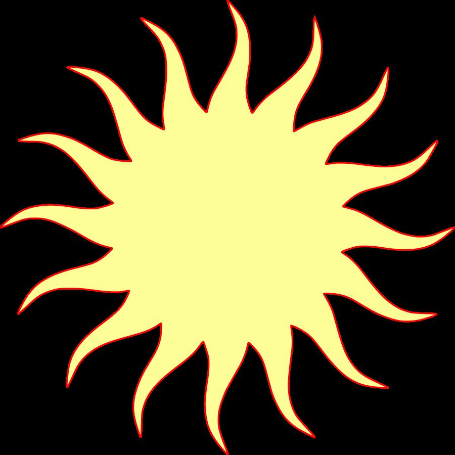Sun SVG Vector file, vector clip art svg file.