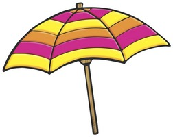 Umbrella On Beach Clipart.