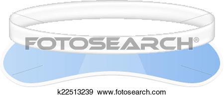 Clip Art of Sun visor hat k22513239.