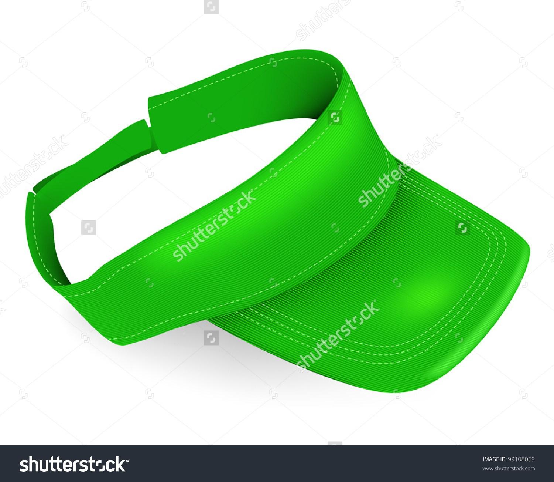 blank green visor template stock vector illustration 99108059.