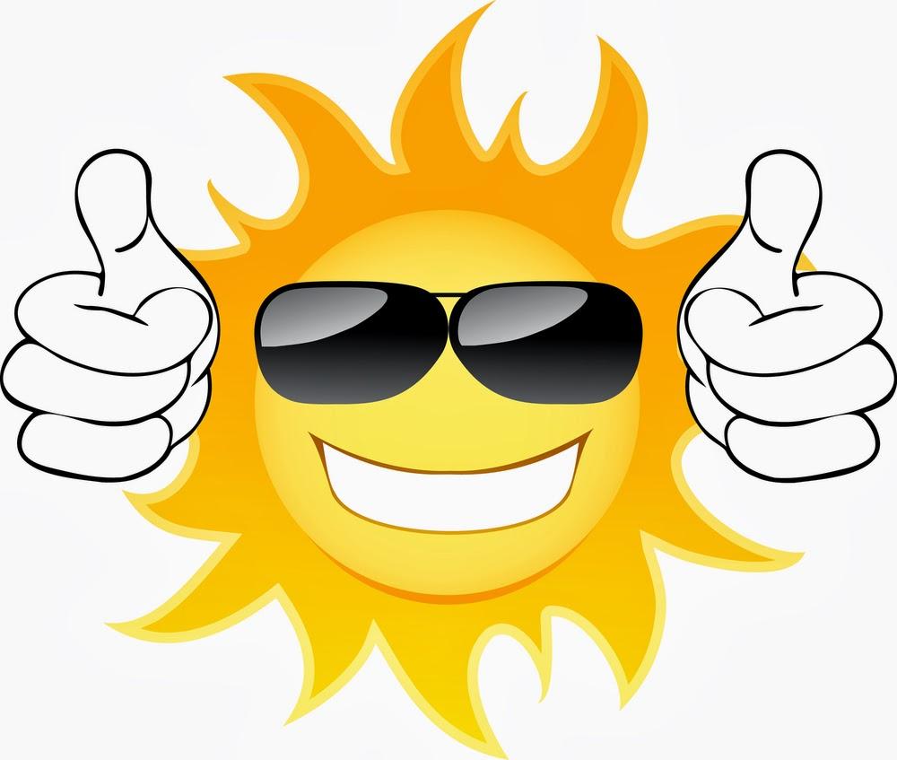 Sun With Sunglasses Clip Art.