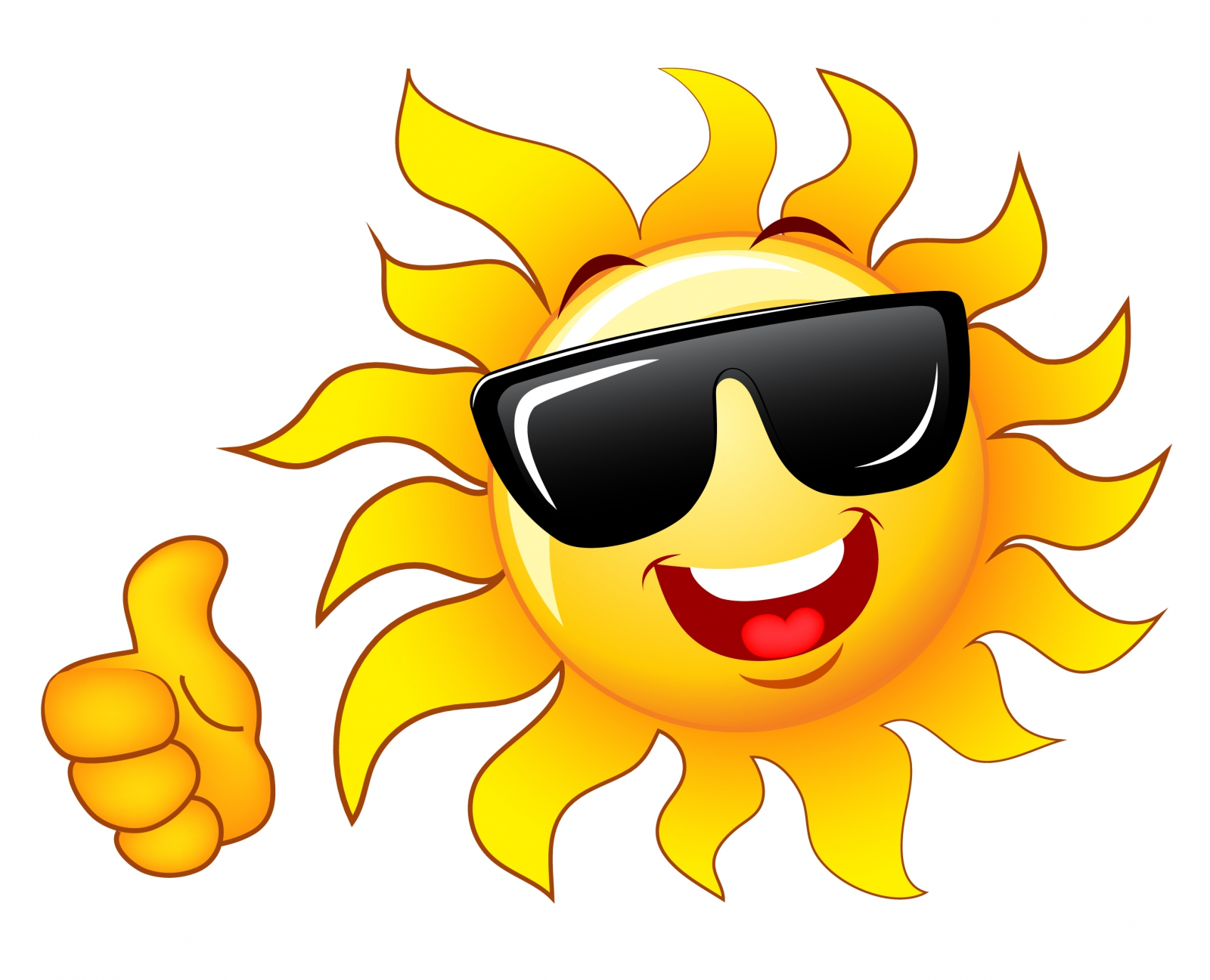 25+ Sun With Sunglasses Clipart.