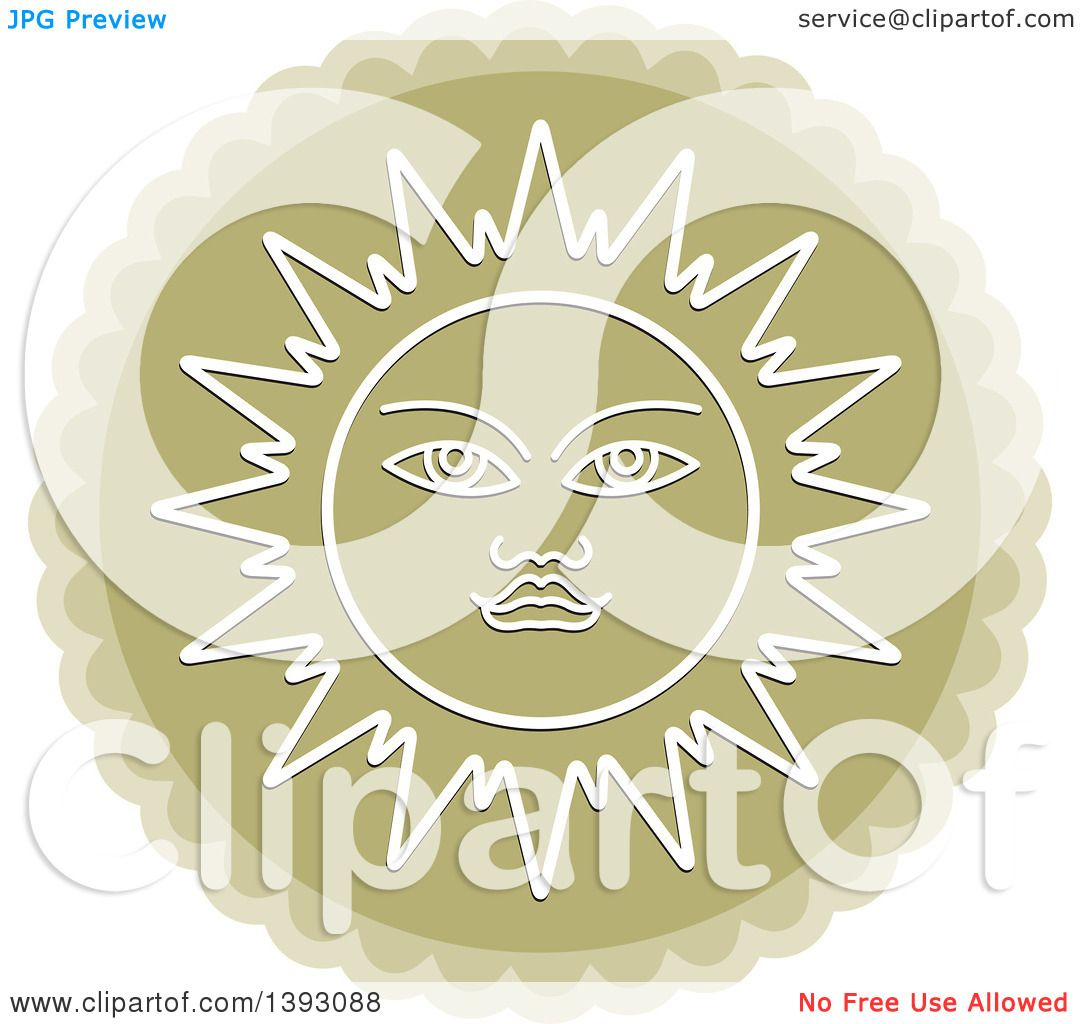 Clipart of a Sun Wheel.