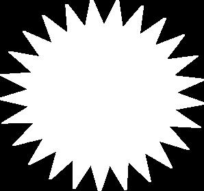 White Sun Outline Clip Art at Clker.com.
